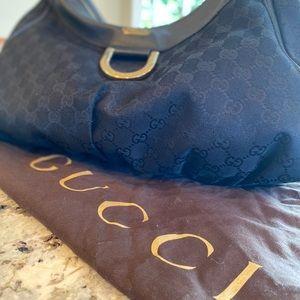 Gucci Monogram Large D Black Shoulder Bag